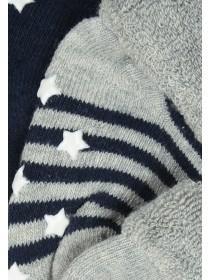 Baby Boys 3pk Blue Socks