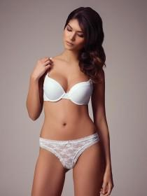 Womens White Helenca Lace Thong