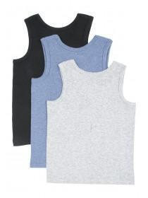 Boys 3pk Marl Vests