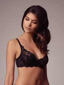 Womens Black Non Padded Lace Bra