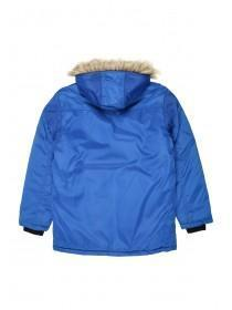 Older Boys Mid Blue Fur Trim Parka