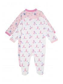 Baby Girls 2pk Assorted Sleepsuits