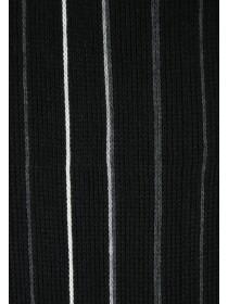 Mens Black Stripe Scarf