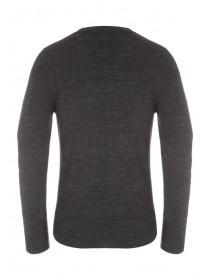 Mens Charcoal Soft Knit Jumper