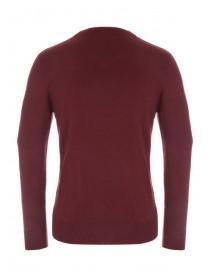 Mens Red V-Neck Jumper
