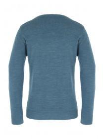 Mens Teal V-Neck Jumper