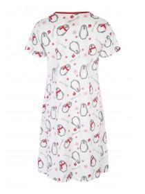 Womens Penguin Short Sleeve Nightshirt