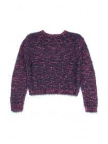 Older Girls Purple Bobble Jumper