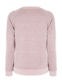 Womens Pale Pink Cashmere Like Top