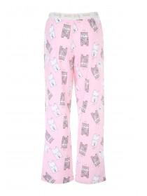 Womens Pale Pink Novelty Pyjama Botttoms