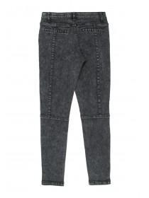 Older Girls Moto Double Zip Jeans