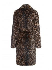 Womens Animal Print Robe