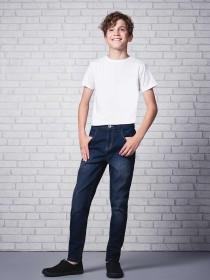 Older Boys Mid Blue Skinny Jeans