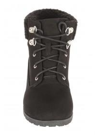 Older Girls Lace Up Wedge Boot