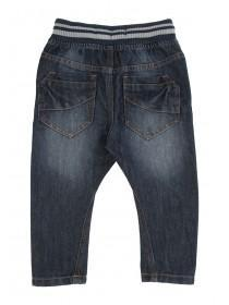 Younger Boys Dark Blue Pull On Jean