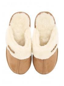 Womens Tan Mule Slipper