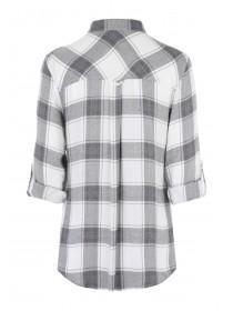 Womens White Check Vicose Shirt