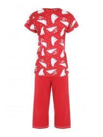 Womens Red Bear Pyjama Set