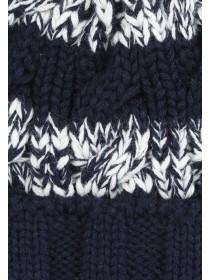 Younger Boys Stripe Cable Knit Hat