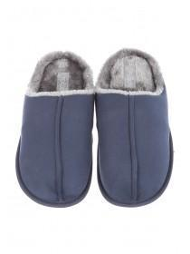 Mens Fur Lined Mule Slppers