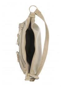 Womens Natural Military Shoulder Bag