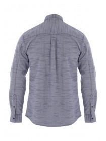 Mens Dark Blue Jacquard Shirt