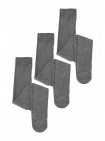Girls 3pk Grey Tights