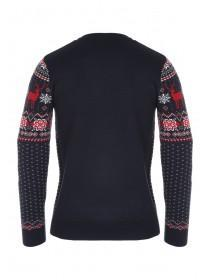Mens Stag Fairisle Jumper