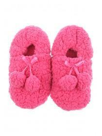 Womens Pom Pom Footlet Socks