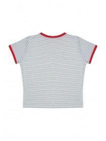Older Girls White Retro Girl Gang T Shirt