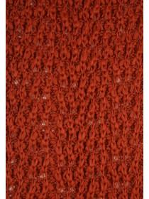 Womens Rust Tassel Knitted Scarf