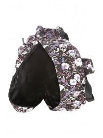 Womens Purple Floral Rucksack