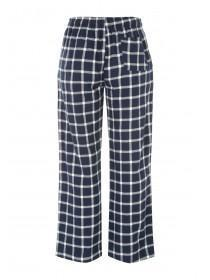 Mens Mid Blue Woven Pyjama Bottoms
