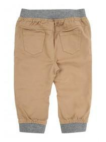 Baby Boy Tan Cuffed Trousers