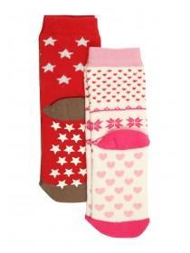 Girls 2pk Fun Slipper Socks