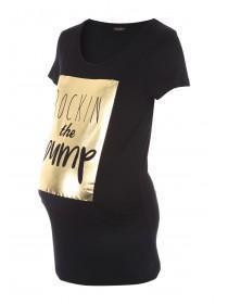 Maternity Black Slogan T Shirt