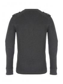 Mens Long Sleeve Mock T-Shirt Jumper
