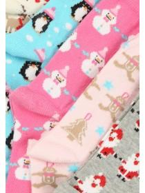 Girls 5pk Festive Socks