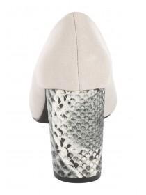 Womens Grey Snakeskin Style Heel Shoes
