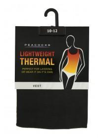 Womens Black Thermal Vest