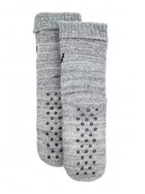 Womens Grey Bear Slipper Socks