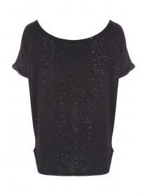 Womens Black Lurex Lounge Top