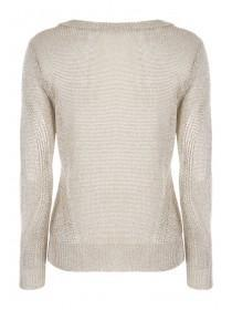 Womens Gold Long Sleeve Jumper