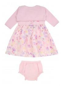 Baby Girls Floral Dress & Shrug Set