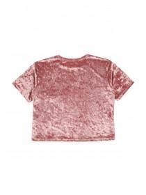Older Girls Pink Velour Top