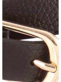 Womens Skinny Leather Belt