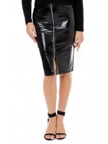 Jane Norman Black Vinyl Skirt