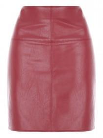 Jane Norman Berry PU Mini Skirt