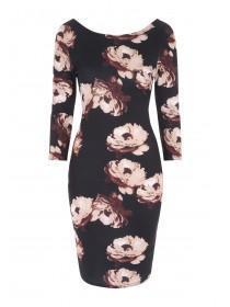 Jane Norman Black Floral Dress