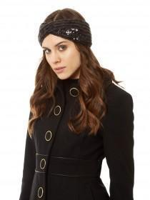 Jane Norman Grey Embellished Headwarmer